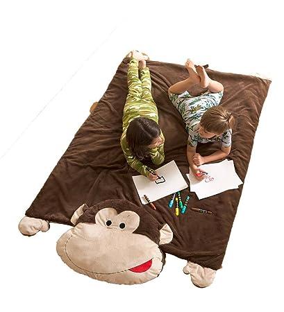 Amazon Com Jumbo Monkey Plush Nap And Play Reversible Floor Mat