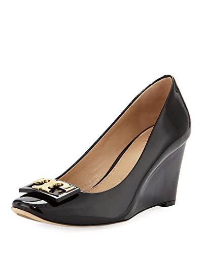 70dd4b041921 Image Unavailable. Image not available for. Color  Tory Burch Women s Jill  75Mm Pump Patent Leather Pump Heel Shoes 52822 Perfect Black ...