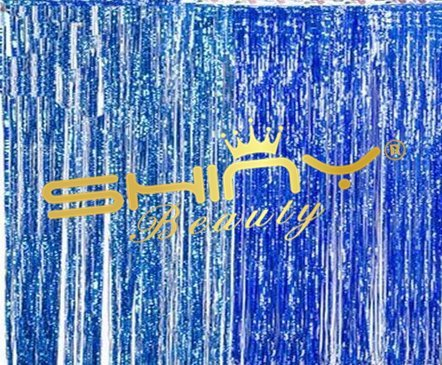 Foil Fringe Backdrops Royal Blue 6FTX8FT Decorative Fringe