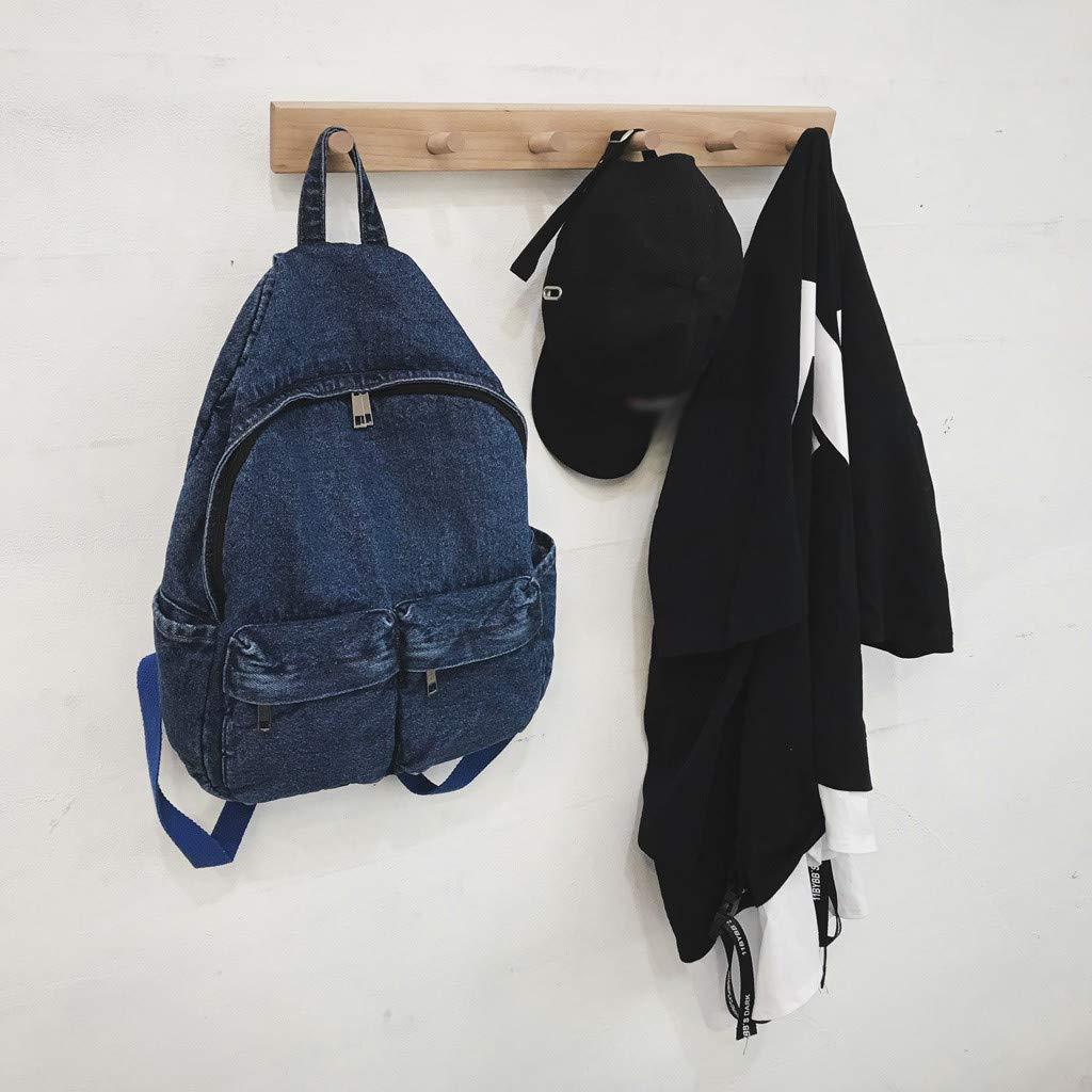 Womola Female Vintage Shoulder Bag Denim Retro Port Wind Harajuku Student Travel Bag