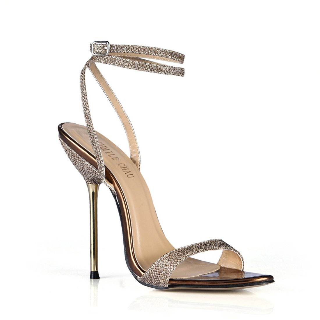 competitive price 269b4 abf0d CHMILE CHAU-Scarpe da Donna-Sandali Tacco Alto Alto Alto a Spillo-Tacco