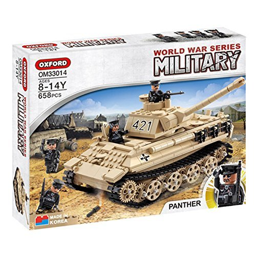 Oxford Blocks World War Series OM33014 PANTHER TANK Lego Style Block Toy (Lego Tank)