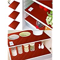 Kuber Industriestm Refrigerator Drawer Place Mats Set Of 6 Pcs (13*19 Inches_Red_Pack Of 6)