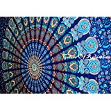 Multi-colored Mandala Tapestry Indian Wall Hanging, Bedsheet, Coverlet Picnic Beach Sheet , Superior Quality Hippie Wall Tapestry or Bedspread in Organic Cotton Tree of Life 95 x 85 Inches by Craftozone