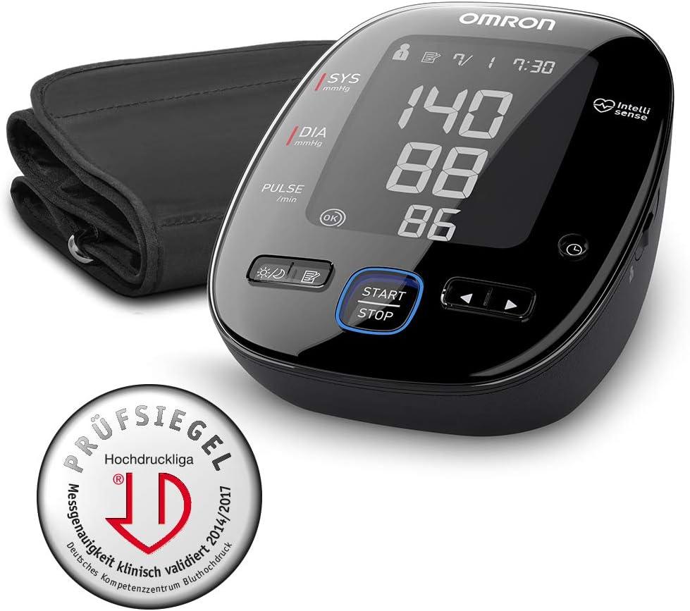OMRON HEM7280TE MIT5s Connect - Tensiómetro de brazo, Bluetooth, aplicación OMRON Connect para móviles, indicador de hipertensión