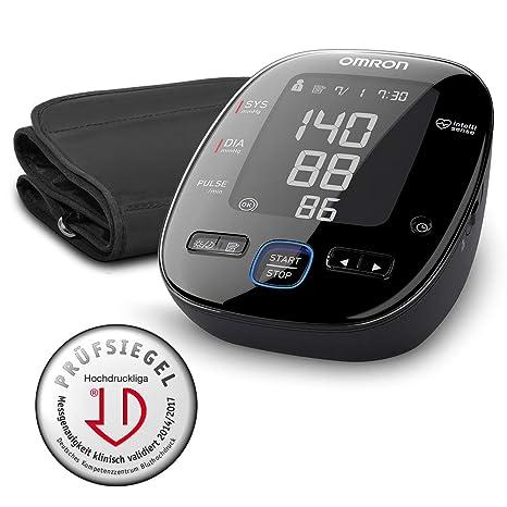 OMRON MIT5s Connect - Tensiómetro de brazo, Bluetooth, aplicación OMRON Connect para móviles, indicador de hipertensión