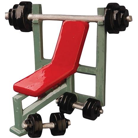 Figura decorativa personalizada para levantamiento de pesas de Navidad – Barra de entrenamiento cargada con platos