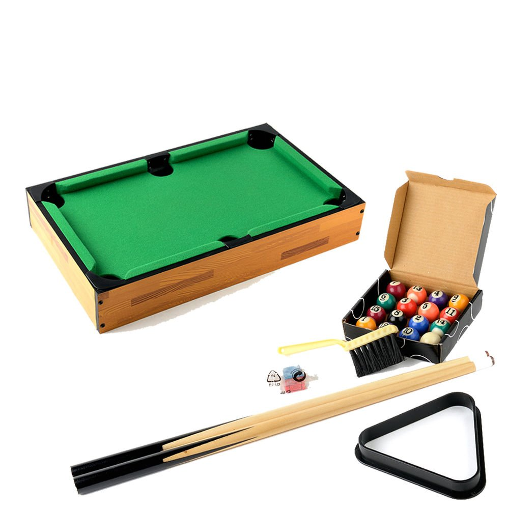 Lykos Mini Table Top Pool Table and Accessories 18 x 11 x 3 Inches Kids Games by Lykos