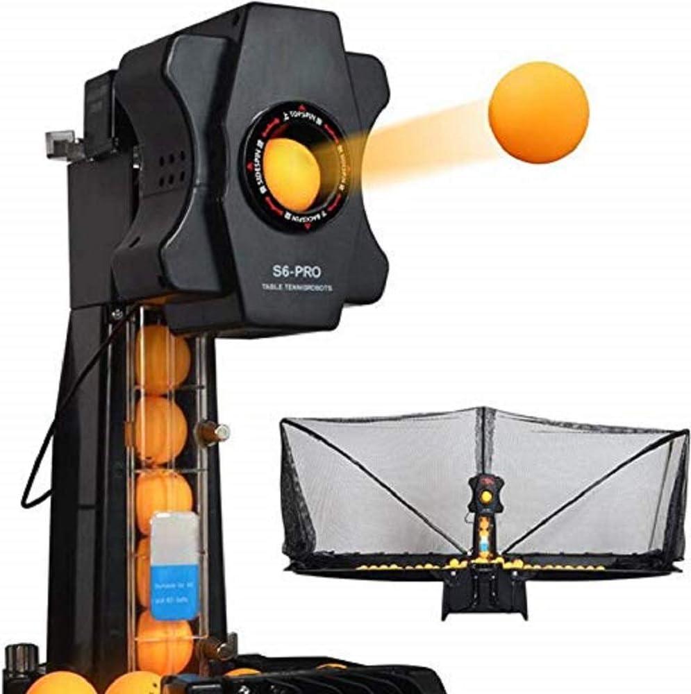 MaquiGra Máquina Automática de Pelota de Ping Pong Set de Ping Pong Robot de Tenis de Mesa Entrenador Inteligente de Ping-Pong Multi-rotación Multi-caída