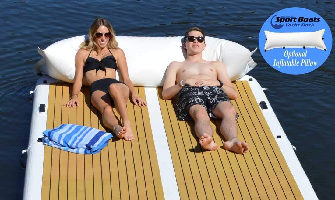 Amazon.com: Plataforma flotante inflable para embarcaciones ...