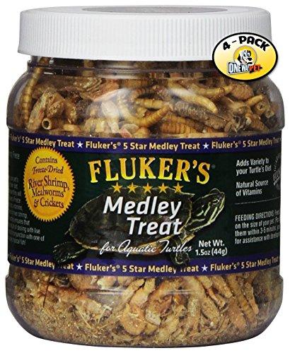 Fluker Labs SFK72020 Aquatic Turtle Medley Treat Food, 1.5-Ounce (Pack of 4)