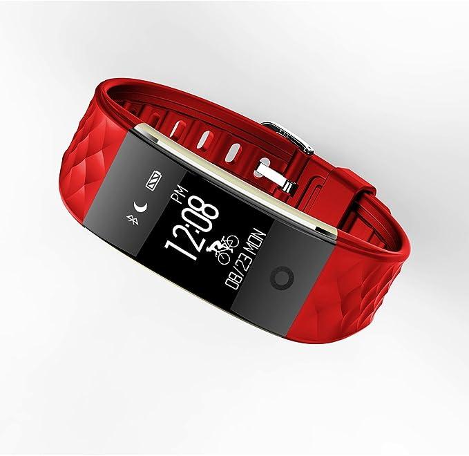 Bluetooth S2 Smart Wristband Pulsera con podómetro, Compatible con ...