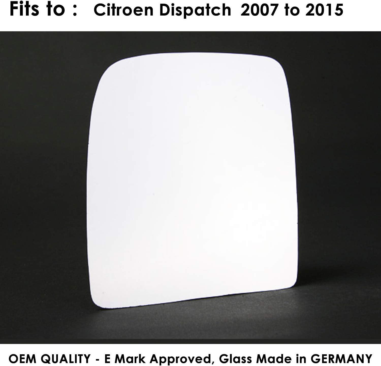 Citroen Dispatch 2007,2008,2009,2010,2011,2012,2013,2014 Twin Glass Version Wing//Door Mirror Silver Wing//Door Mirror Glass LH Passenger Side