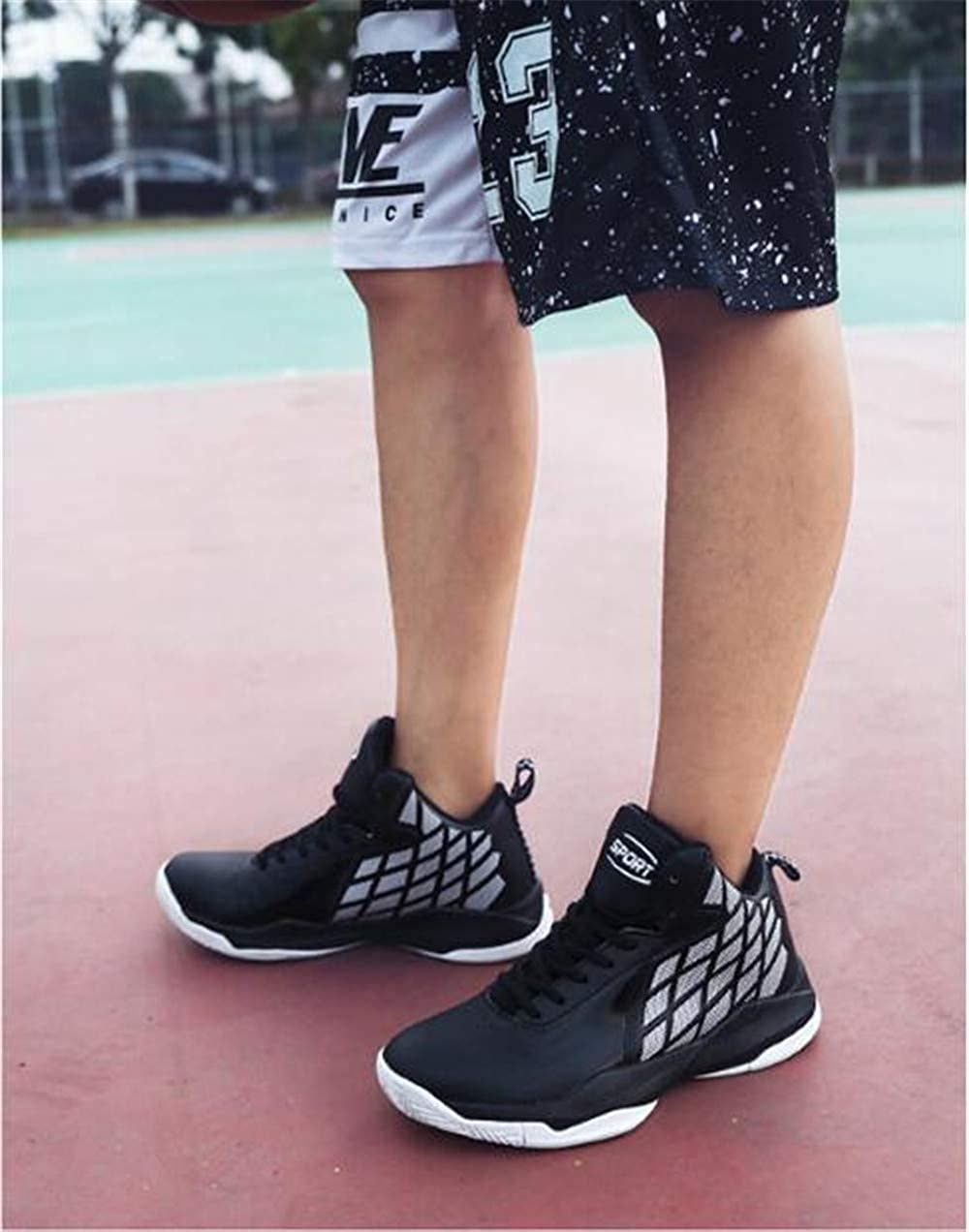 US Men ProDIgal Mens Basketball Shoes Shock Absorption Basketball Boots Trainer Sneakers M Black-Lable 44//10 D