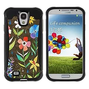 Suave TPU GEL Carcasa Funda Silicona Blando Estuche Caso de protección (para) Samsung Galaxy S4 IV I9500 / CECELL Phone case / / Spring Blooming Teal Pink Yellow /