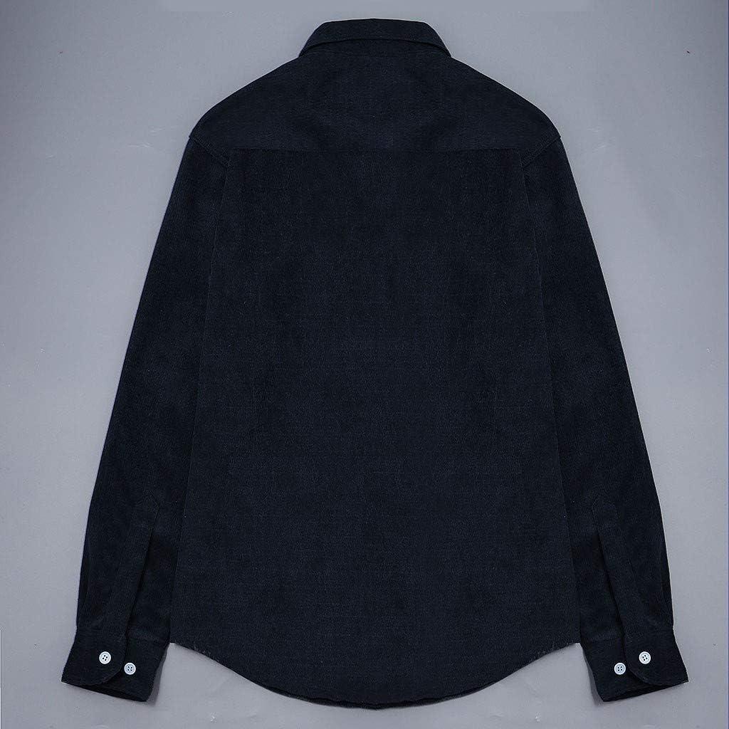 waotier Camisas Casual Chaquetas Hombre Otoño Moda Pana Abrigo ...