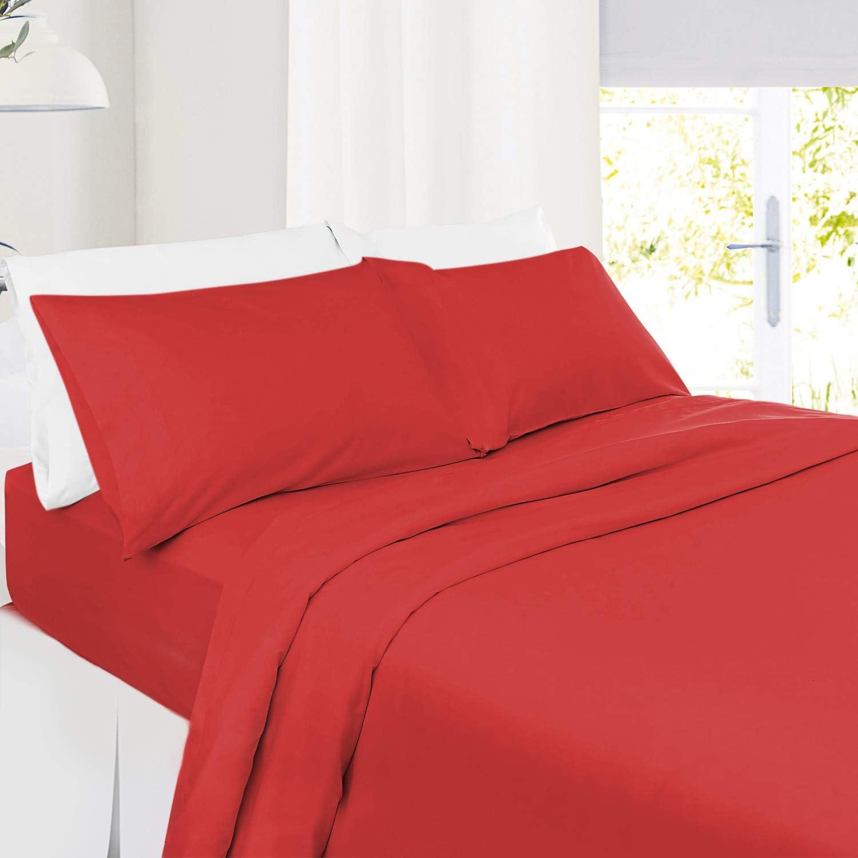 Setaluna Soft and Silky Red Bed Sheet Set