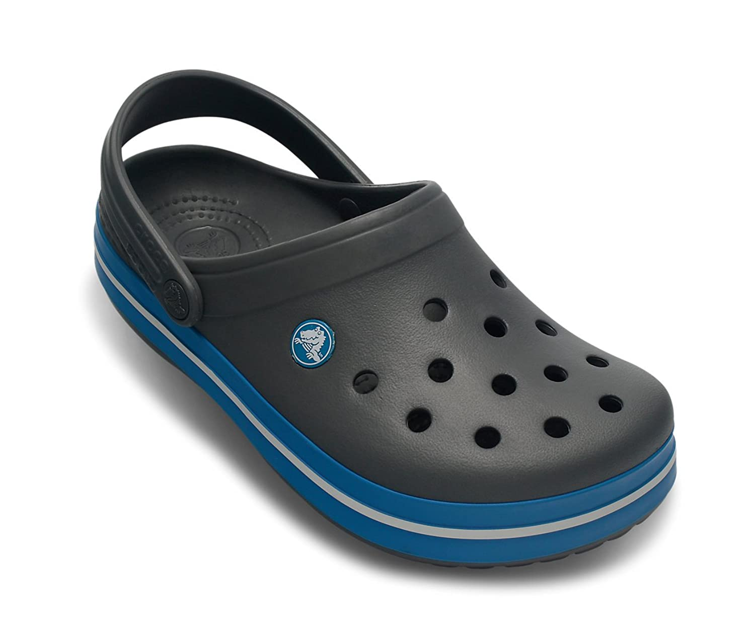 Crocs Crocband Shoe for Adults - Available in Many Colors!, Size: 8 D(M) US Mens / 10 B(M) US Womens, Color: Charcoal/Ocean