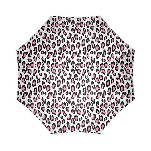 Cheetah Print Pattern Folding Windproof outdoor Travel Umbrella for Women (Umbrella Stand Patio Diy)
