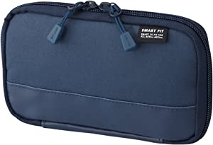 "LIHITLAB Compact Pen Case (Pencil Case), Water & Stain Repellent,3.5"" x 6.5'', Navy (A7687-11) (A-7687-11)"