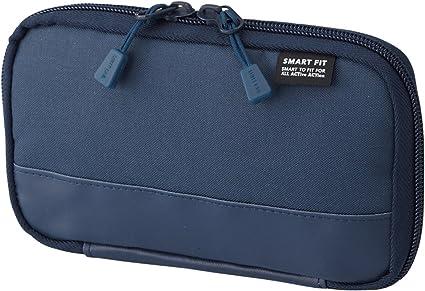 Lihit Lab.Smart Fit - Estuche compacto para lápices y bolígrafos, color azul marino: Amazon.es: Oficina y papelería