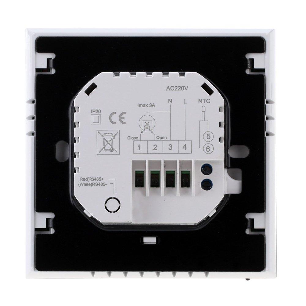 Anself Programmierbarer Raumthermostat mit Touchscreen ...