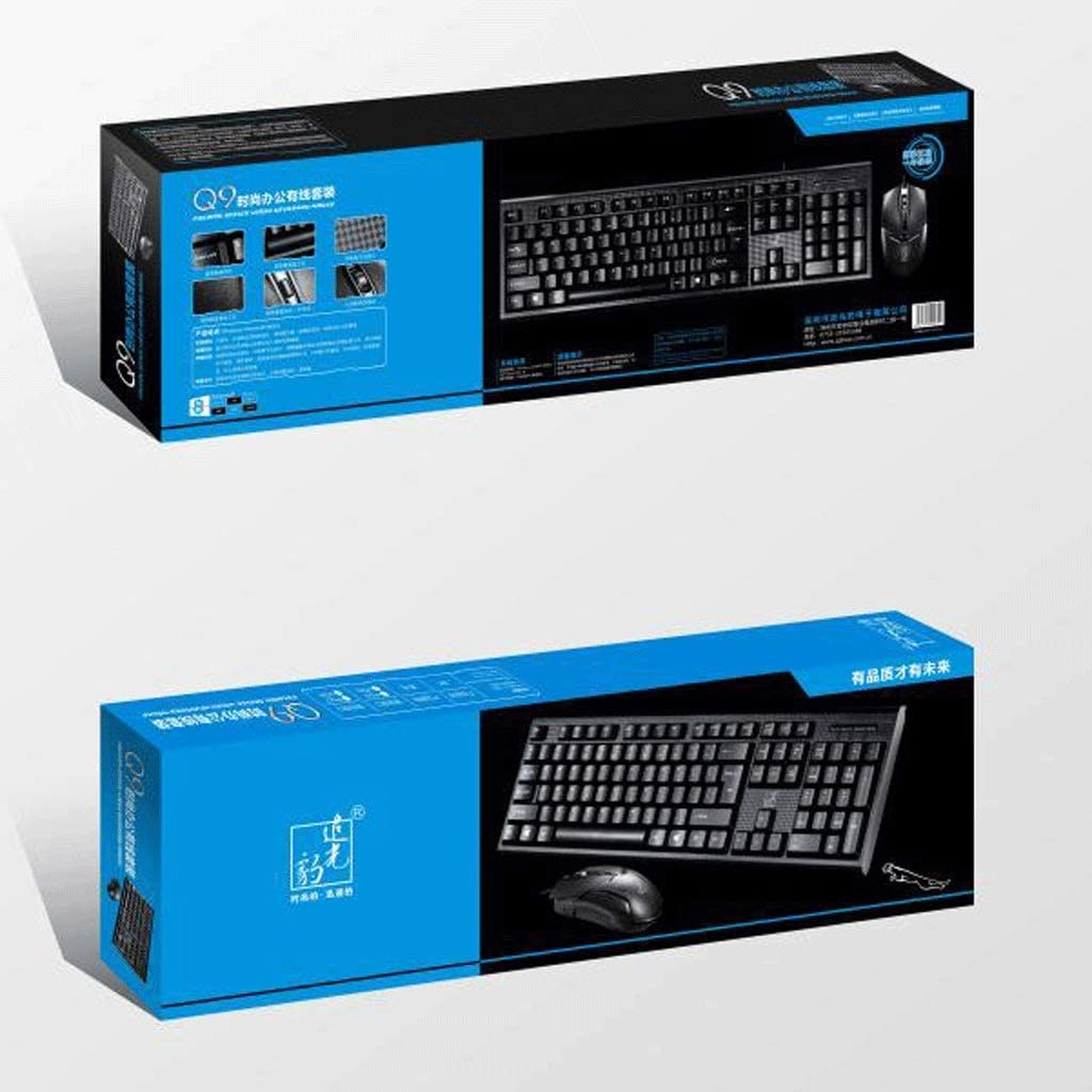 Color : USB+USB Cost-Effective Mouse and Keyboard Special Mouse and Keyboard Set U+u Notebook Set Wired USB Keyboard and Mouse Set