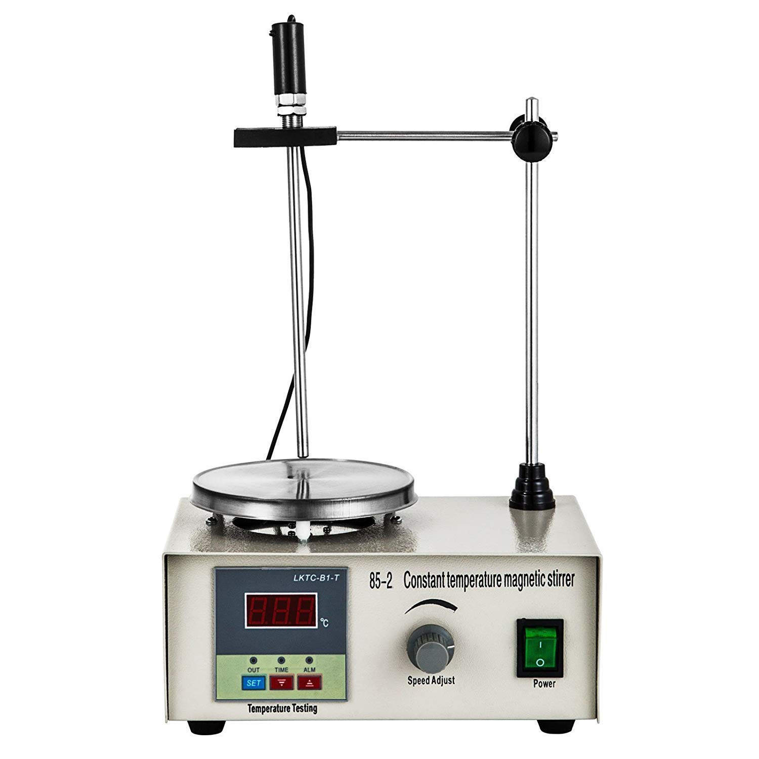 Happybuy 85-2 Magnetic Stirrer with Stir Bar 2400RPM 1000ml Magnetic Mixer with Hat Plate for Lab Liquid Mixing Heating