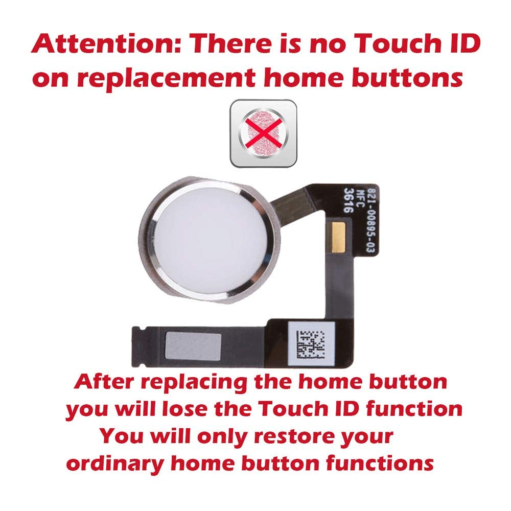 iPad Mini 4 Gold Home Menu Button Fingerprint Sensor Flex A1538 A1550 USA