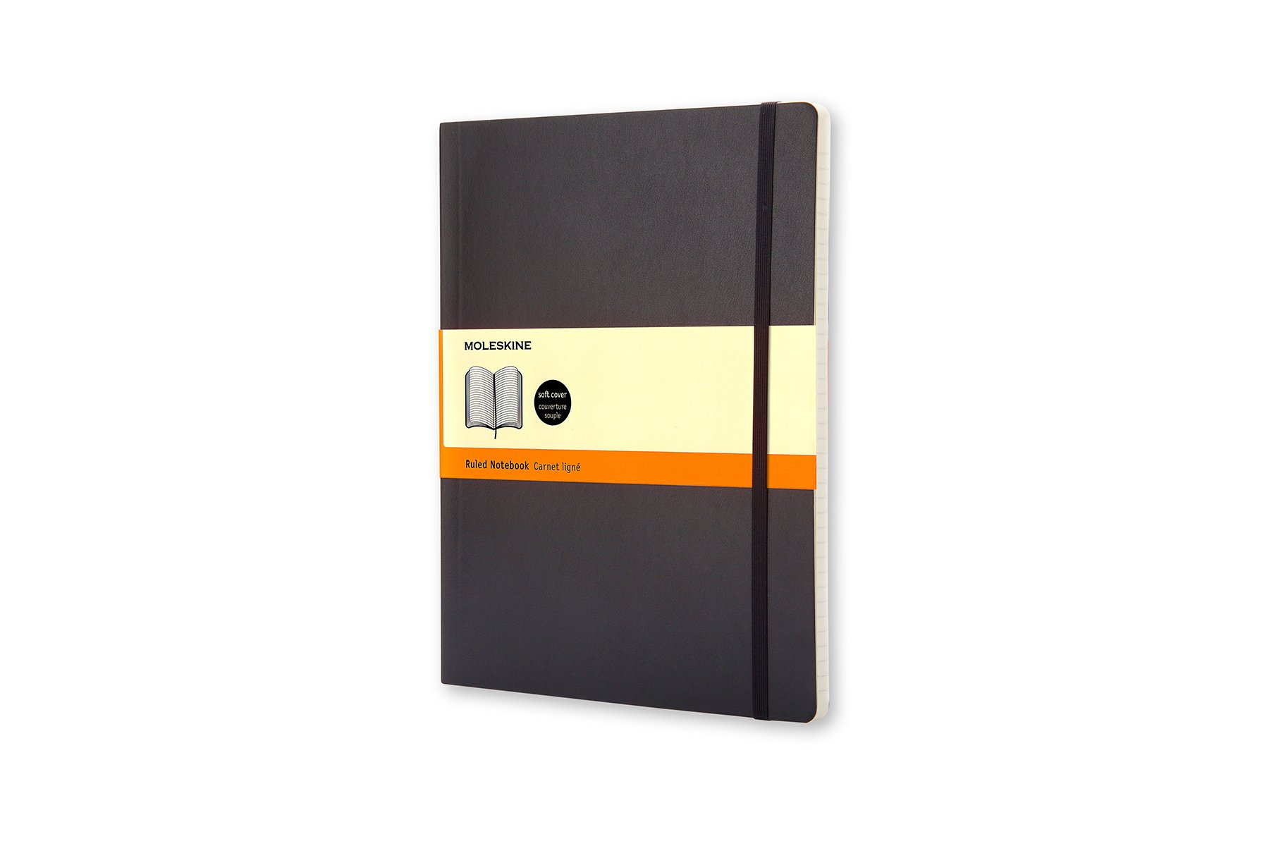 Moleskine Classic Soft Cover Notebook, Ruled, XL (7.5 x...