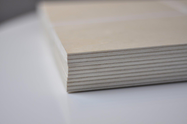 Taglio Laser 500 x 300 x 3 mm Creative Deco 20 x Compensato Panello Legno Grezzo Fogli Traforato Perfetto per Pirografia CNC Router Bricolage Tavola Betulla Baltico Modellare