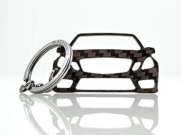 Blackstuff Carbon Karbonfaser Schlüsselanhänger Kompatibel Mit E Class W212 2009 2012 Bs 766 Auto