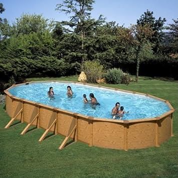 Piscina dream pool mauritius imitacion madera 8,00x4,70x1,32m KITPROV818W: Amazon.es: Juguetes y juegos