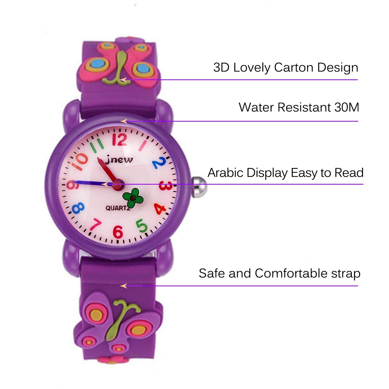 Kids Watches, 3D Cute Cartoon Waterproof Watch for Girl Children Toddler Wrist Watches by Akaru (Image #3)