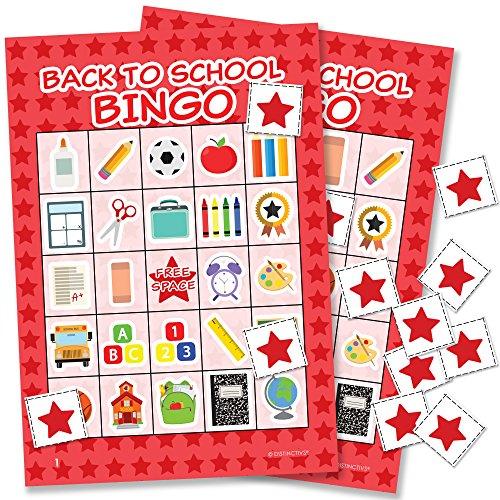 Classroom Picture Bingo - DISTINCTIVS Back to School Bingo - 24 Players