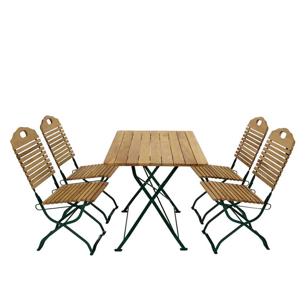 Esstisch Mit Stühlen Für Garten Klappbar (5 Teilig) Pharao24 Online  Bestellen