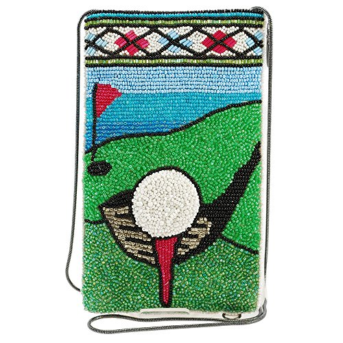 MARY FRANCES Beaded Crossbody Phone Bag (Fairway)