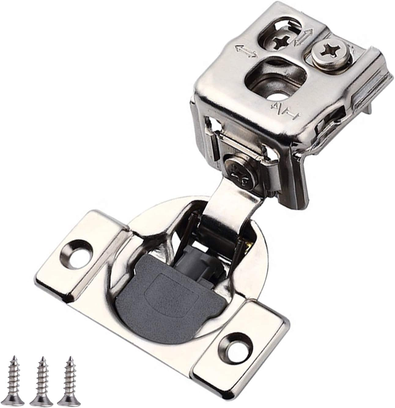 Homekoo 1-1/4 Overlay Soft Close Hinge Cabinet Face Frame Replacement Concealed Hinges 40Pcs