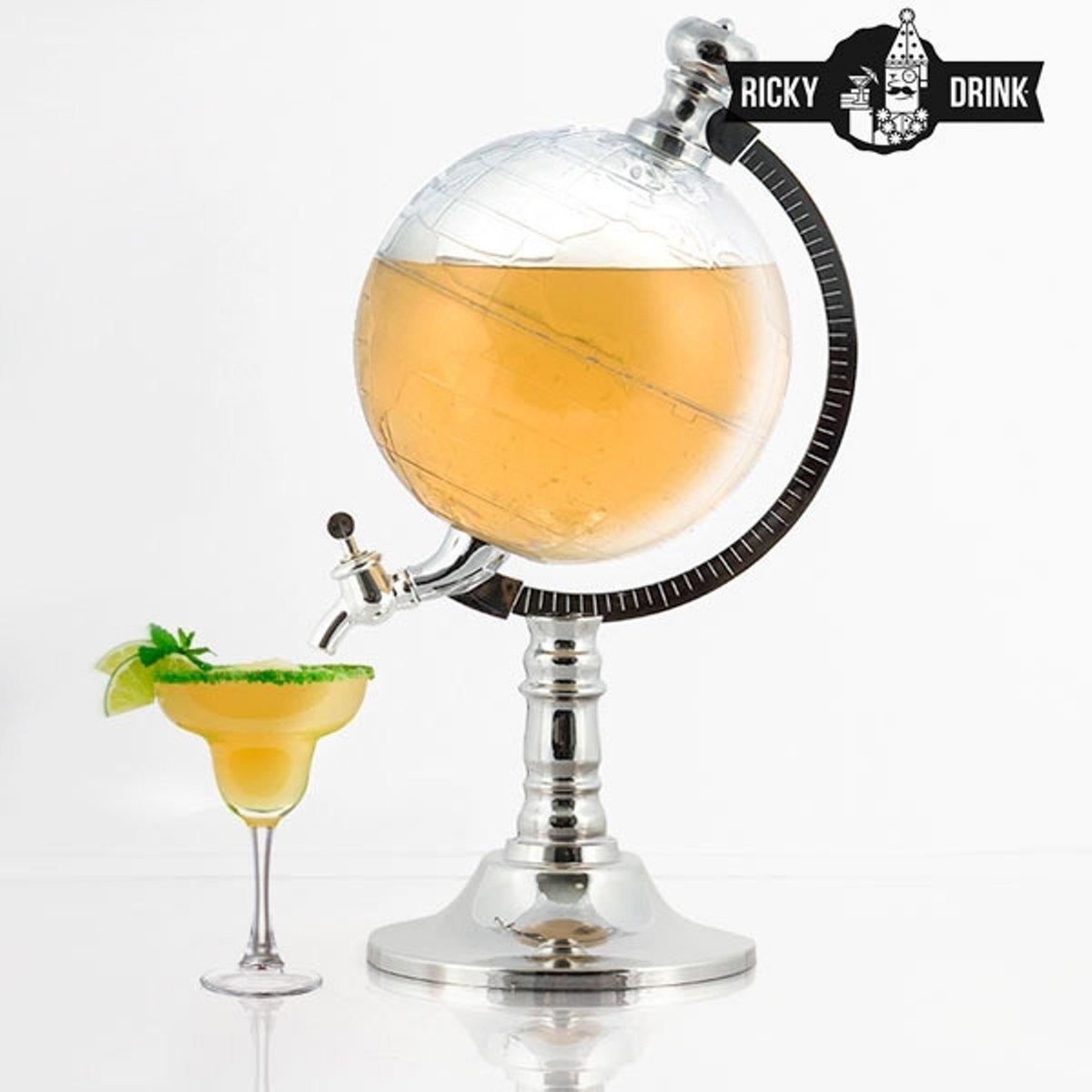 Exklusiver Globus Getränkespender mit Zapfhahn für indoor und ...