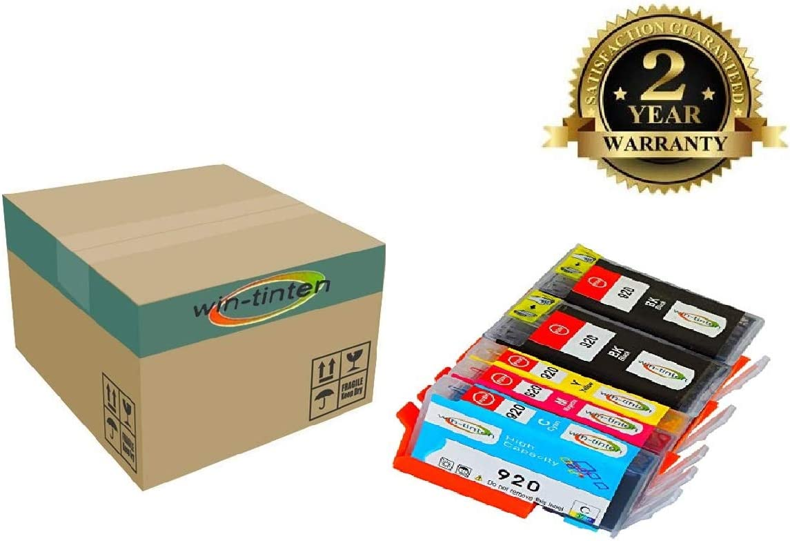 Win-tinten 5 Pack Replacement for HP 920 XL Ink Cartridges Compatible with HP Officejet 6000 7500A 6500 7000 7500 6500A Printer.