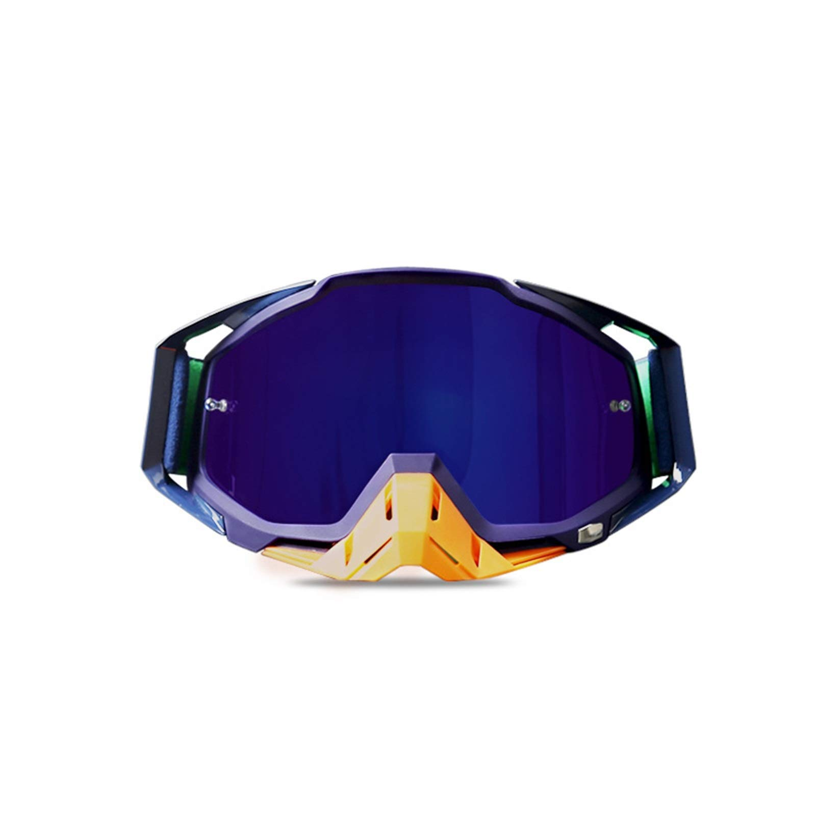 Adisaer Winter Sport Protection Goggles Motorcycle Racing Riding Goggles ski Goggles Purple Blue Orange for Adults