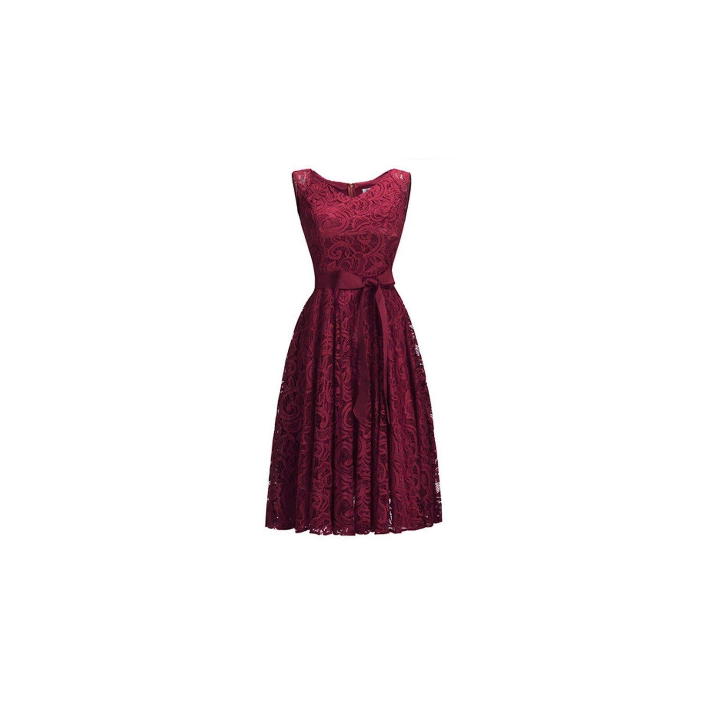 Cps1147 burgundy YPfashion High Low Lace Dresses Elegant Plus Size Short Party Dresses