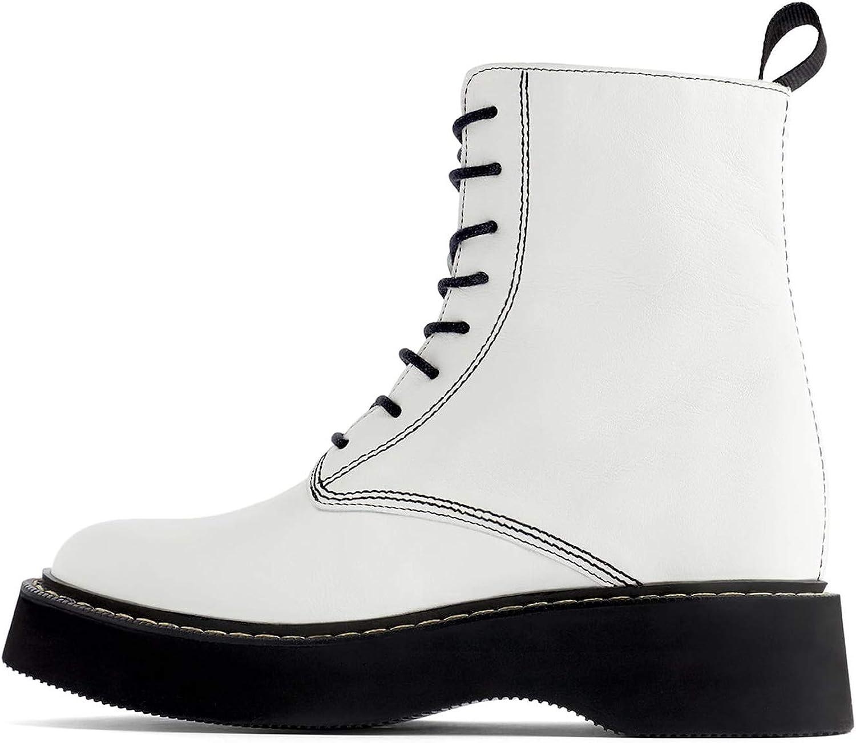 Zara 6184/001/001 - Botas tobilleras de piel con suela de ...