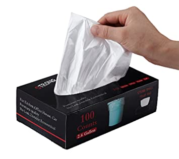 Amazon.com: feiupe 2,6 Galón fuertes pequeña bolsa de basura ...