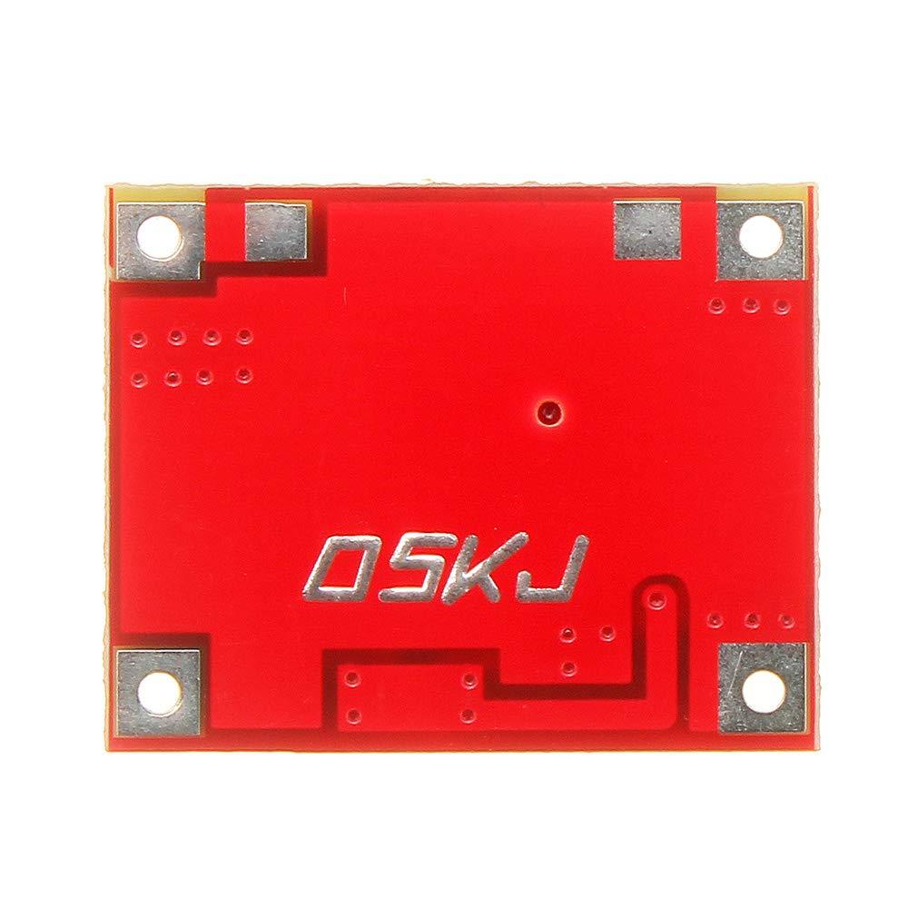 ILS 3,7 V bis 5 V 1A Lithium-Batterie-Step Up-Modul-Brett Mini Mobile Power Boost-Ladeger/ät-Modul mit Unterspannung Anzeige 5 St/ück 3 V