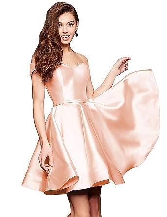 50bbbc9cf79 luolandi Women s Cute Blush Homecoming Dresses Mini Short Cocktail Party  Dress Blush US2