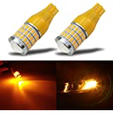 iBrightstar Newest 9-30V Super Bright T15 912 W16W 921 LED Bulbs with Projector replacement for Turn Signal Blinker…