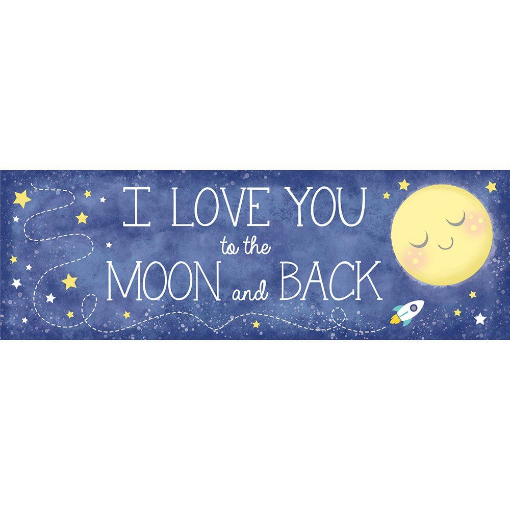 To the Moon and Back Giant Party Banner, Each   B01KP896JW
