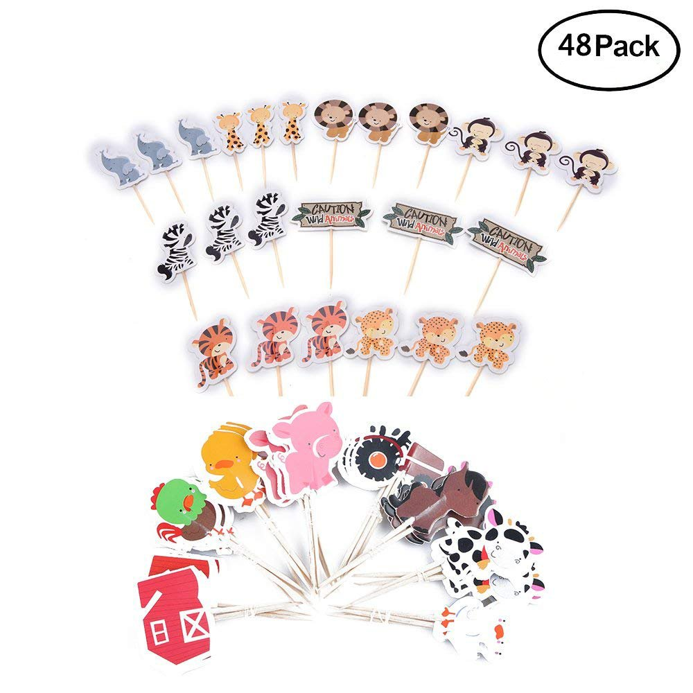 iMagitek 48 Pcs Basketball Sport Boys Cupcake Toppers Picks Kids Birthday Party Supplies Baby Shower Cake Decorations