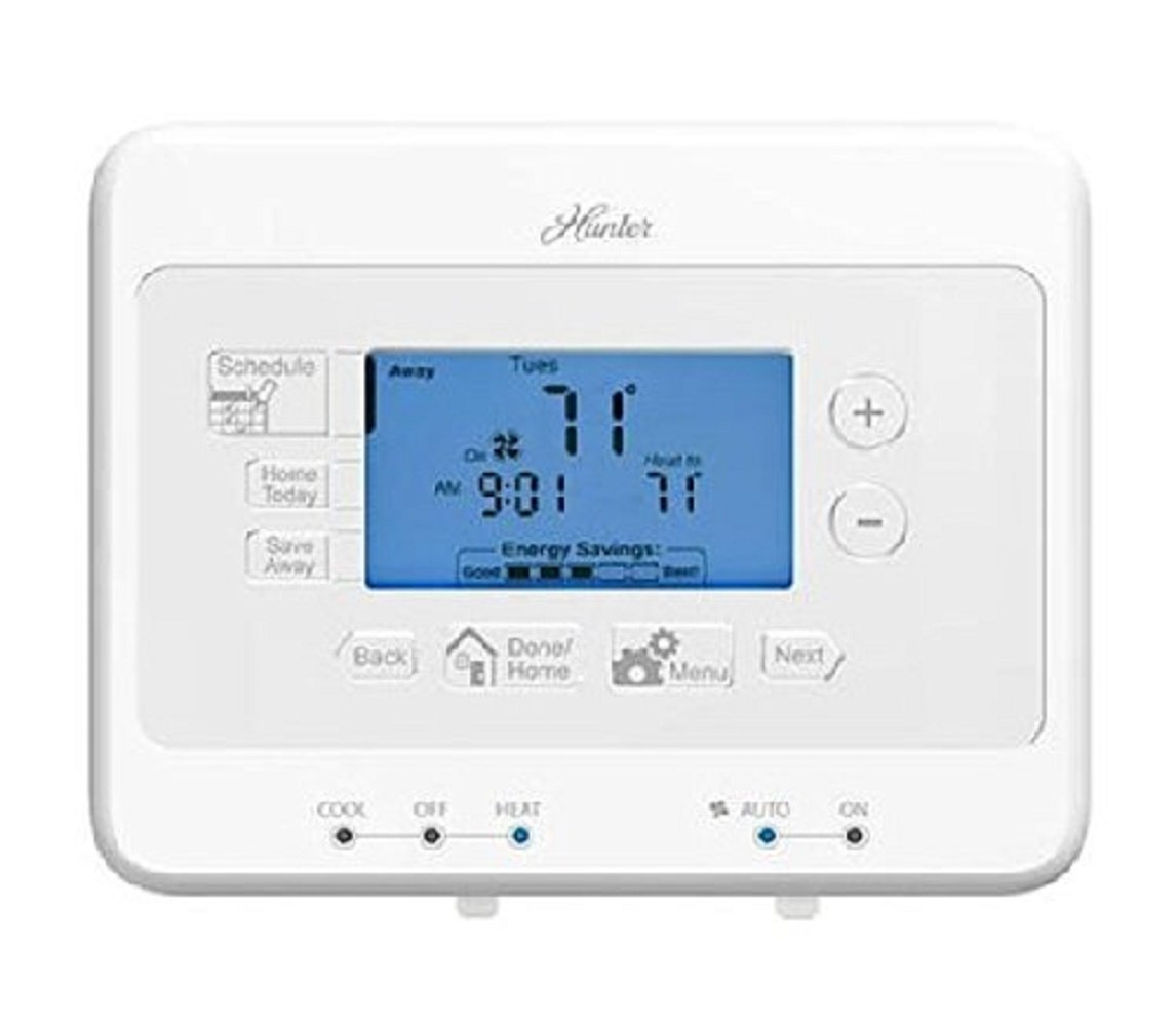 Hunter 44377 - 7-Day Digital Programmable Thermostat (Home Thermostat, AC, Heat) by Hunter Home Comfort (Image #1)